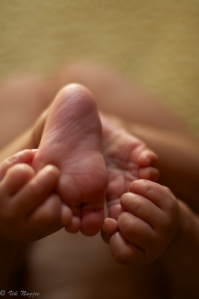 Foot in Hand